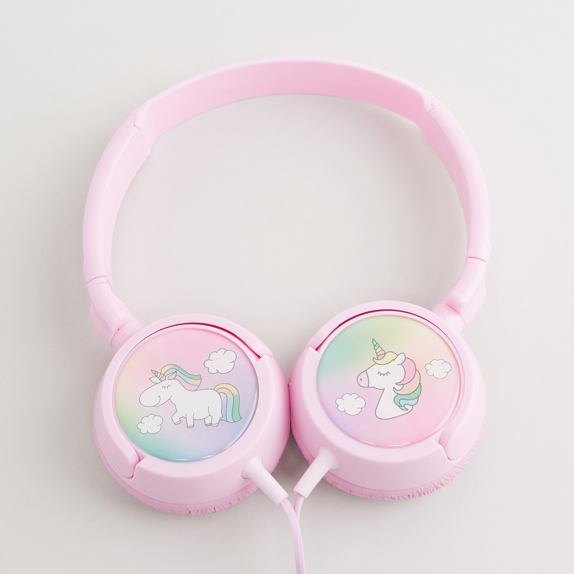 Unicorn Print Headphones with Cord