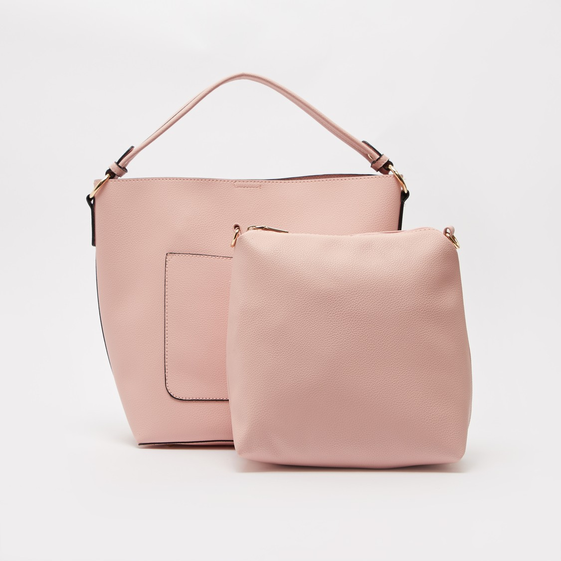 Textured Handbag and Pouch