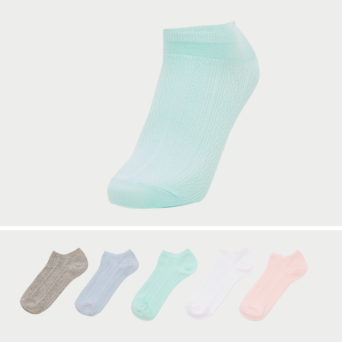 Set of 5 - Textured Socks