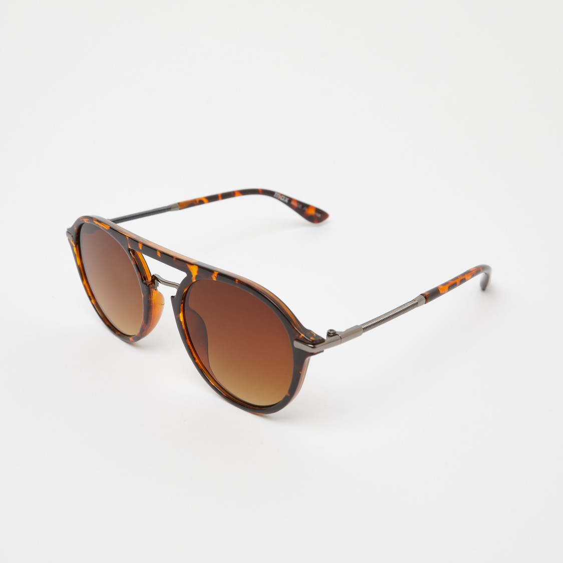 Printed Full Rim Sunglasses with Nose Pads