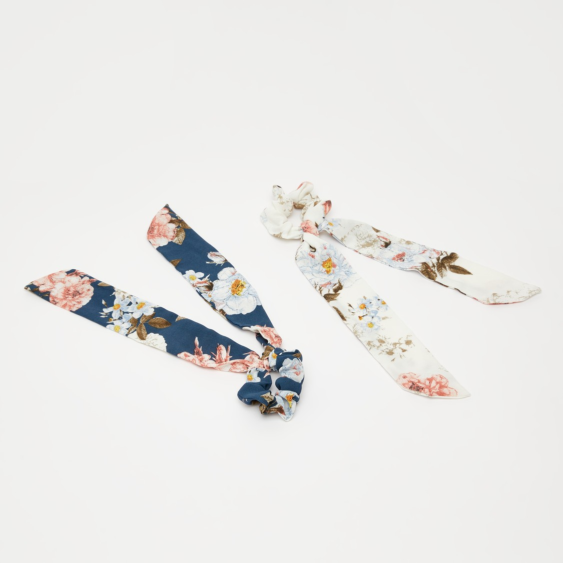 Set of 2 - Floral Print Hairband with Applique Detail