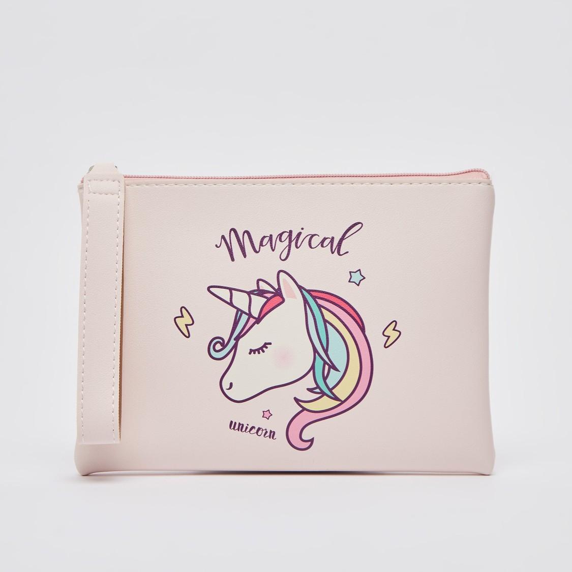Unicorn Print Travel Pouch