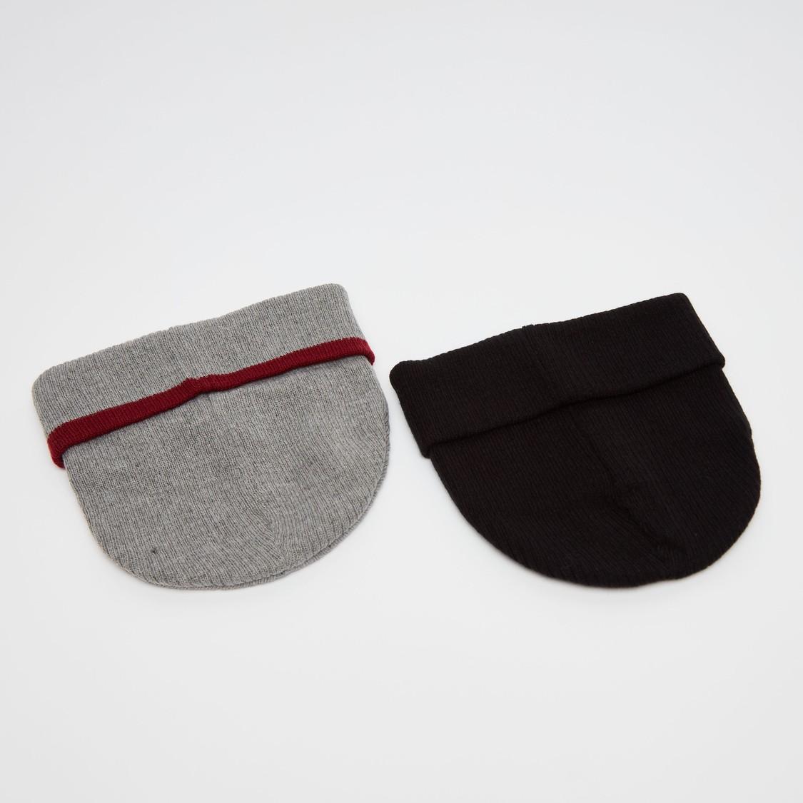 Set of 2 - Beanie Caps with Applique