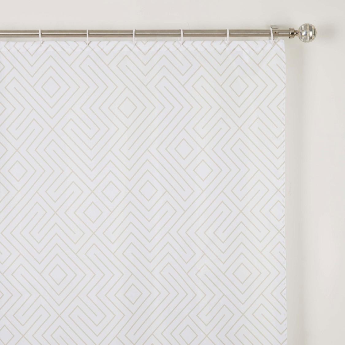 ستارة حمام بطبعات - 180x180 سم