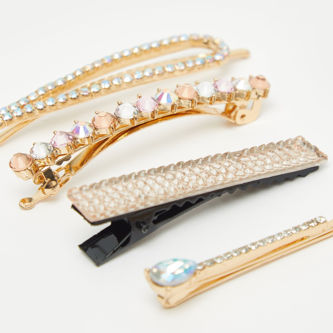 Set of 4 - Embellished Hair Clip
