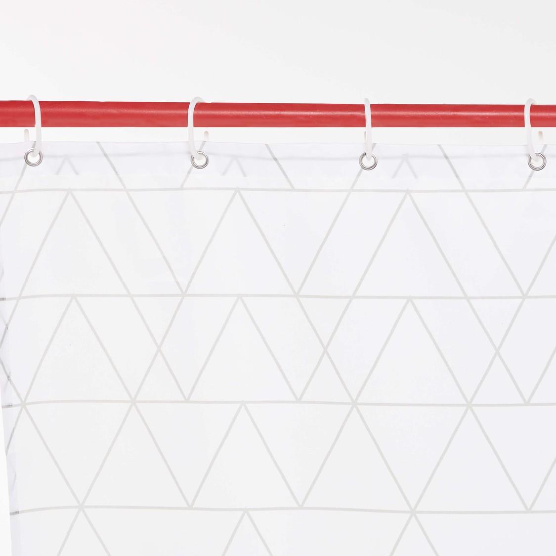 ستارة حمام بطبعات هندسية - 180x180 سم