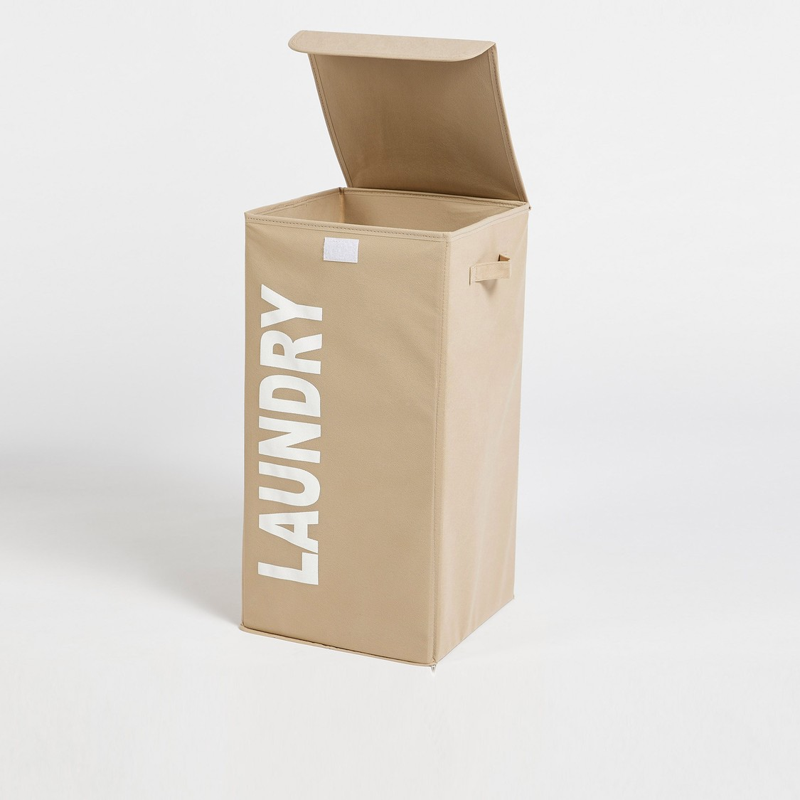 Printed Laundry Hamper with Top Lid and Zip Closure - 60x30 cms