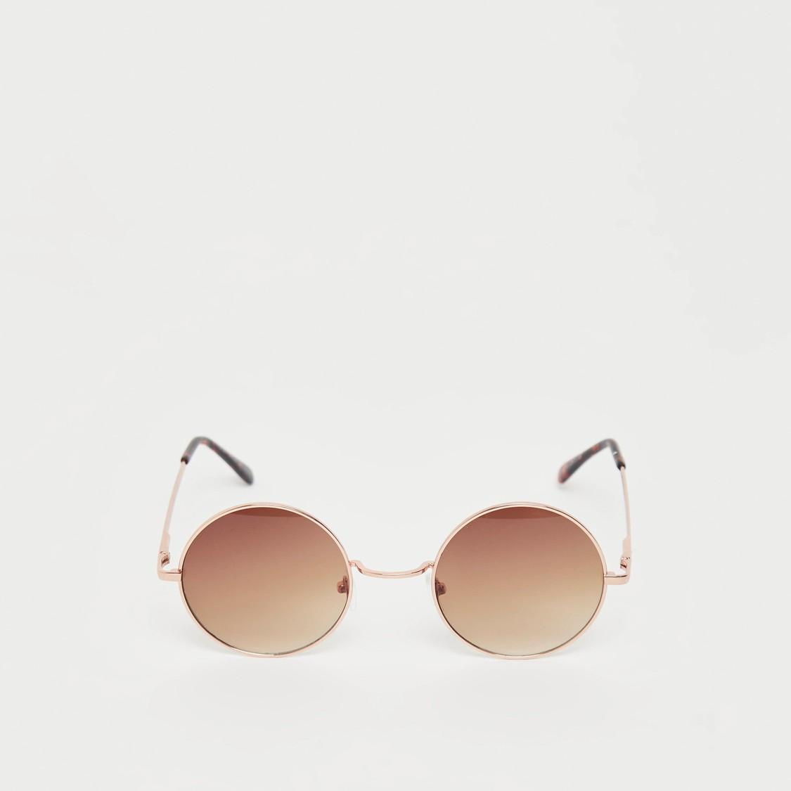Solid Round Sunglasses