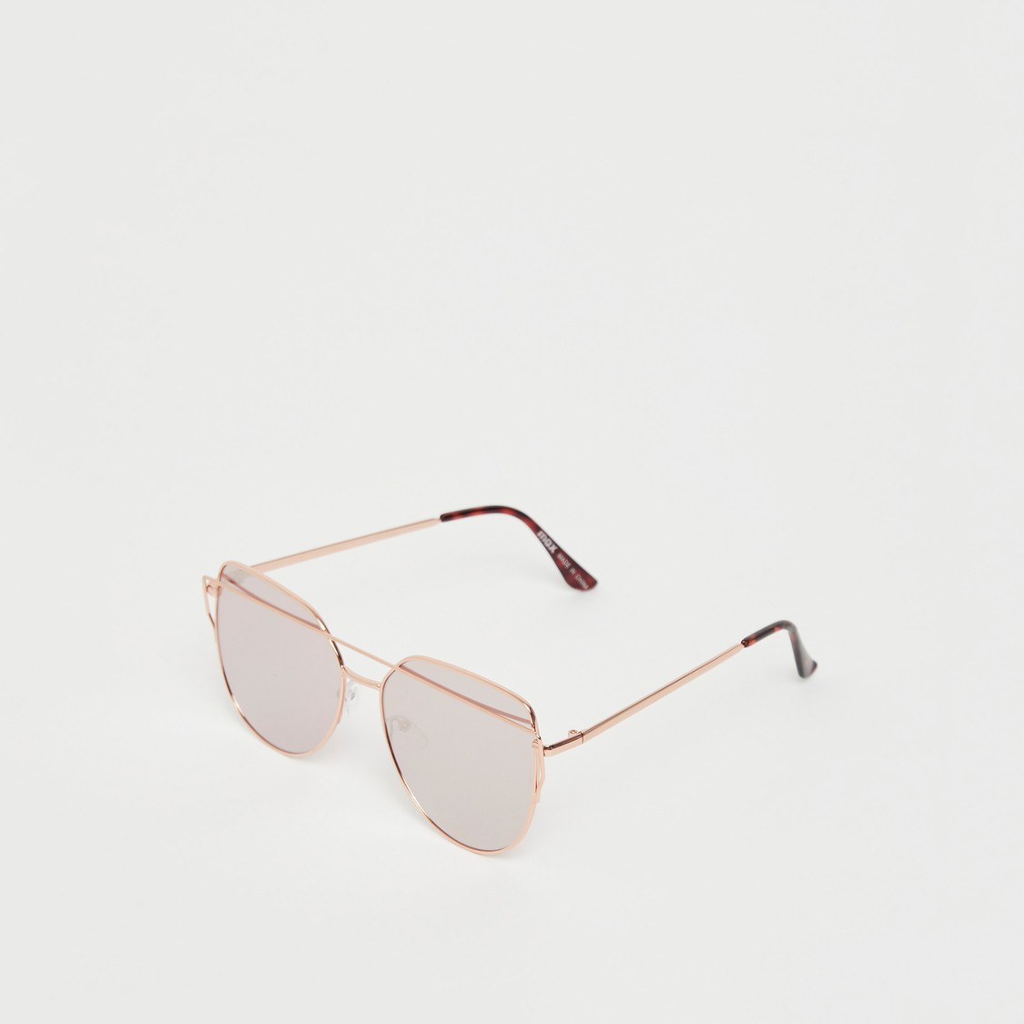 Metal Framed Sunglasses with Nose Pads