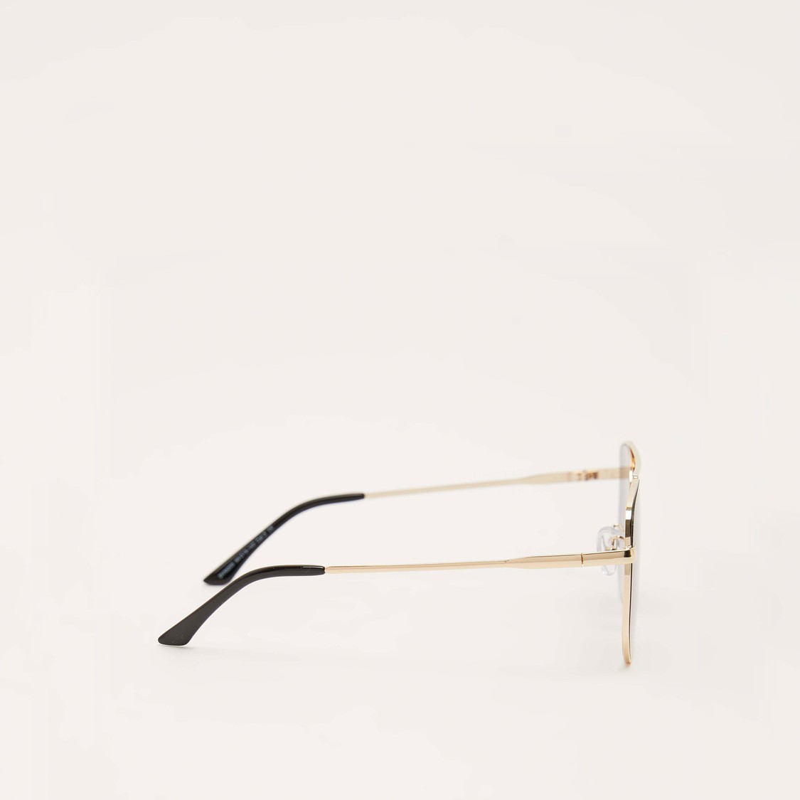 Full Rim Solid Sunglasses with Nose Pads