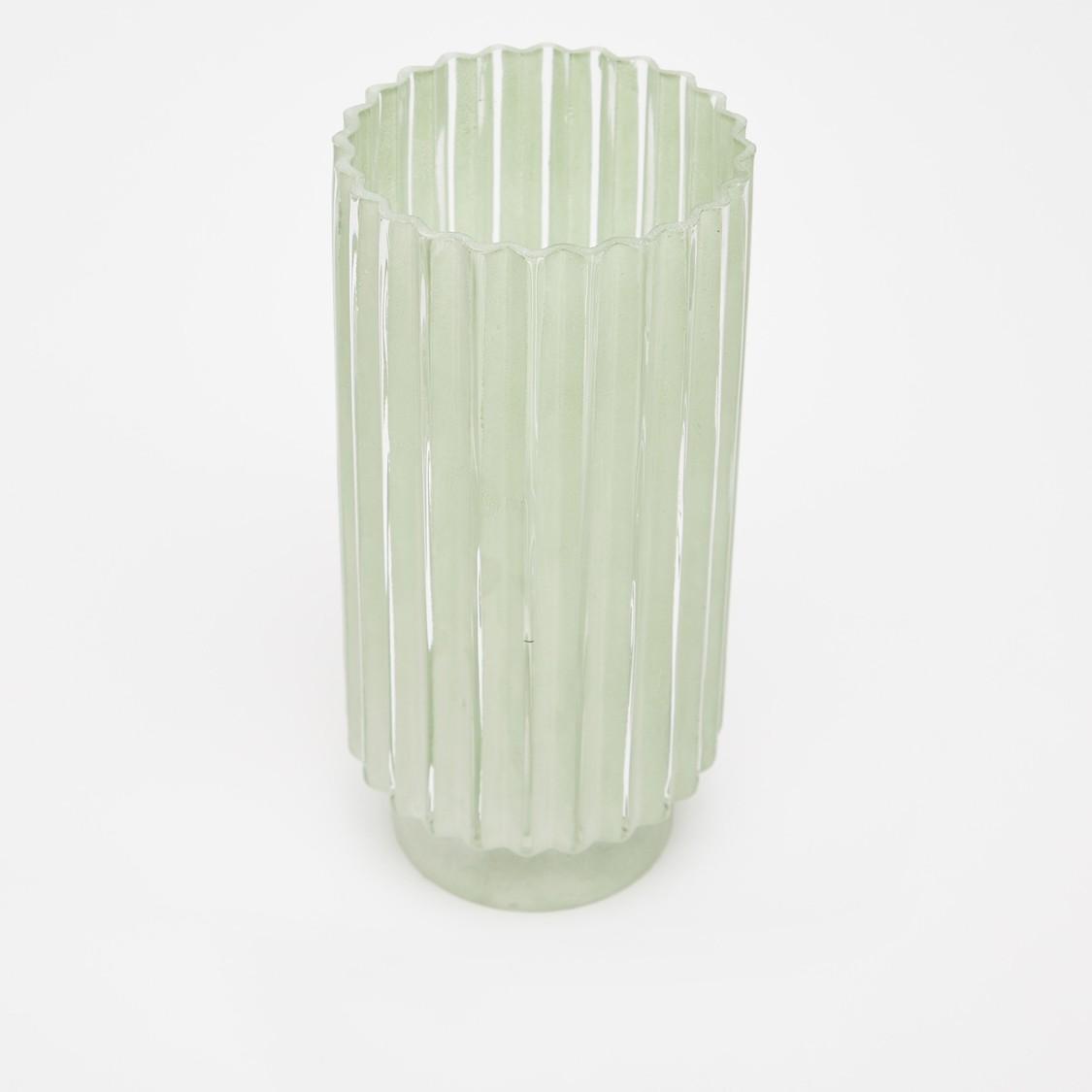 Decorative Patterned Cylindrical Vase - 24.5x12 cms
