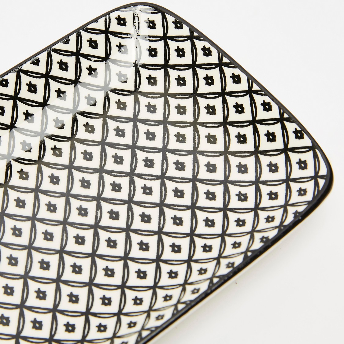 Pattern Print Rectangular Plate