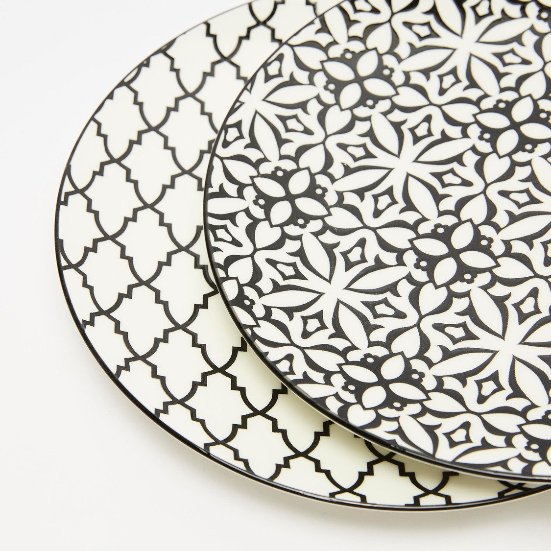 Printed 2-Piece Round Plate Set