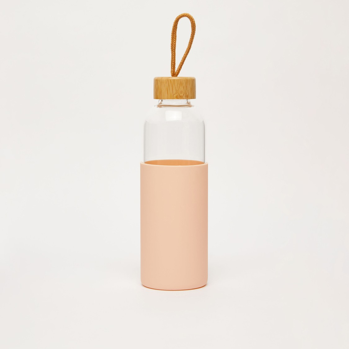 Textured Water Bottle with Cap and Handle