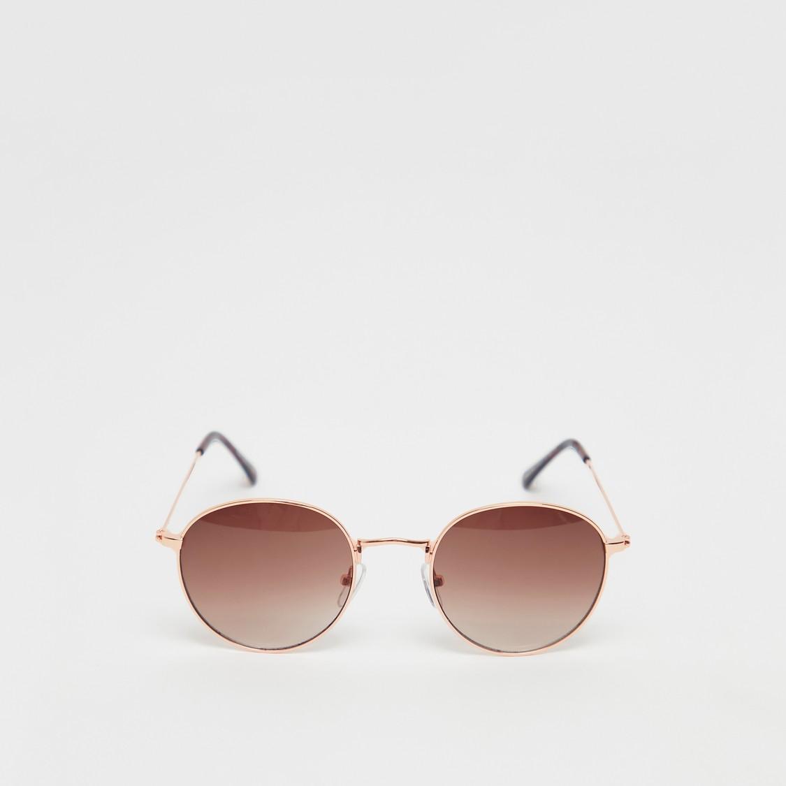 Metal Round Solid Sunglasses