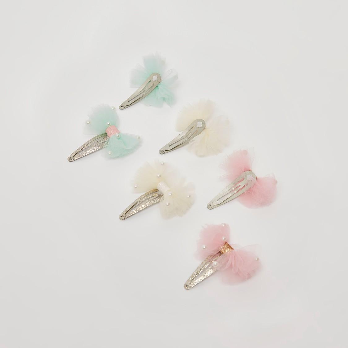 Set of 3 - Applique Detail Hairpins