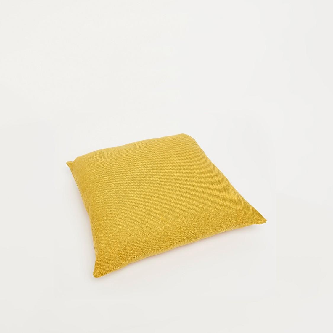 وسادة محشوة مربعة سادة - 43x43 سم