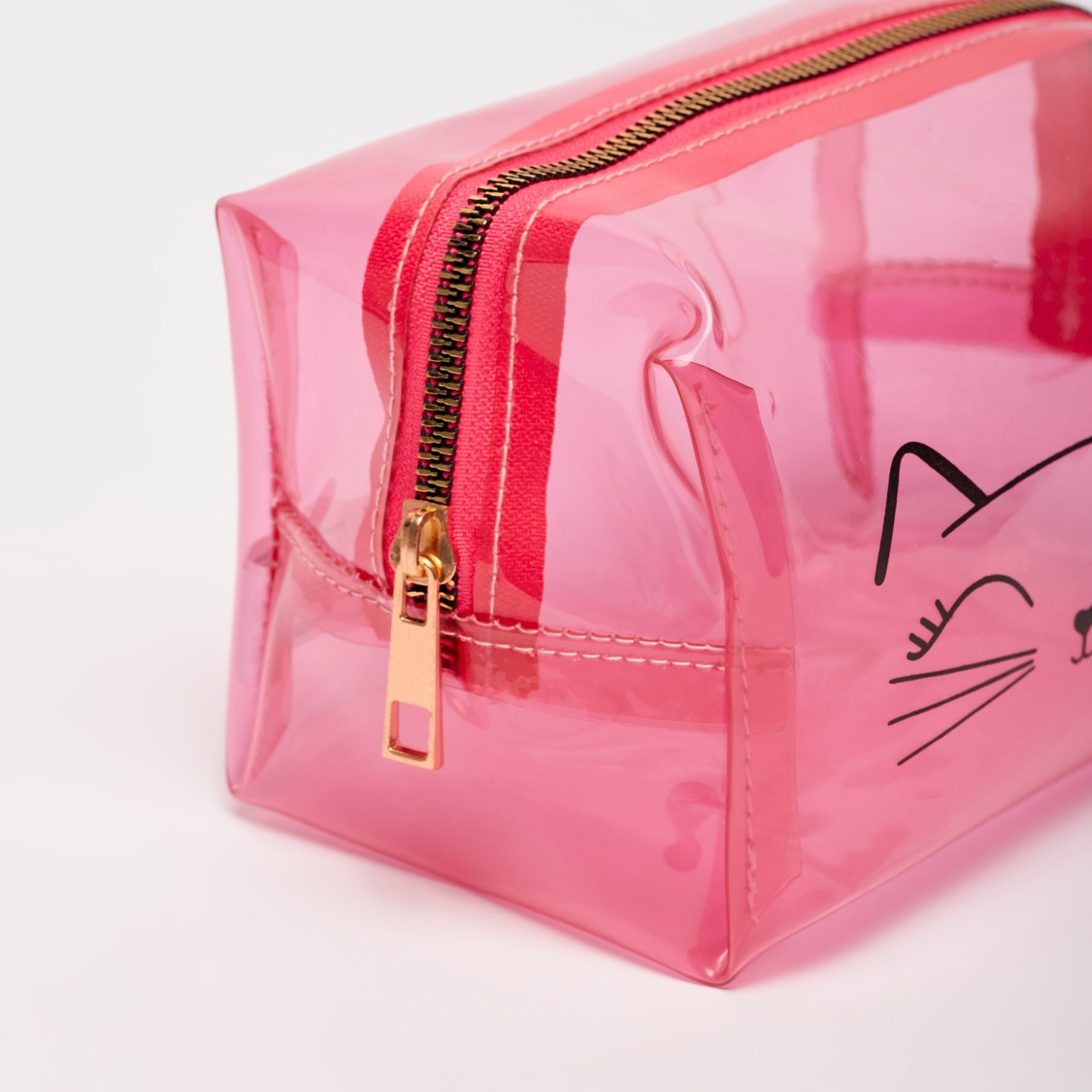 Tinted Pouch with Cat Face Design