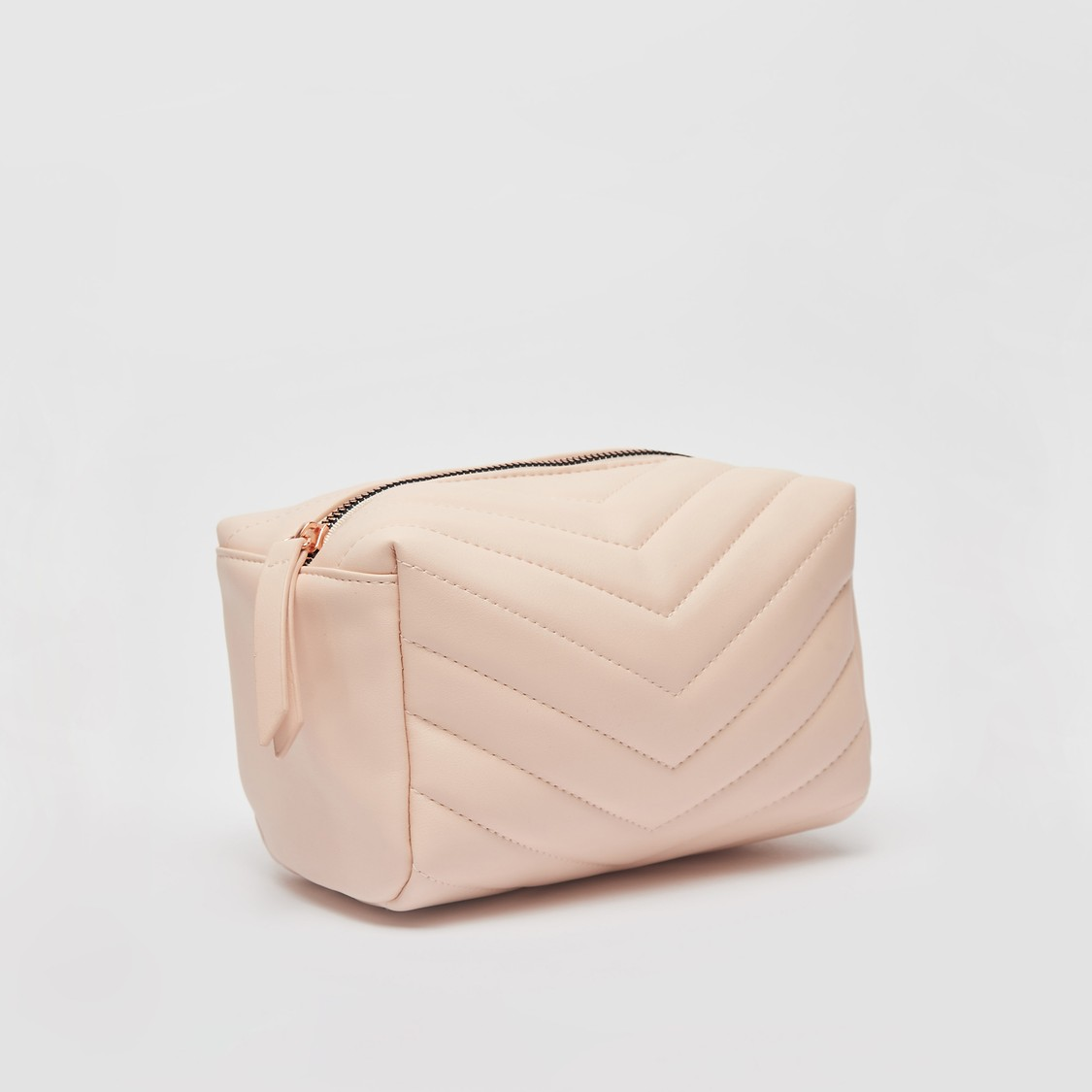 Textured Pouch with Zip Closure