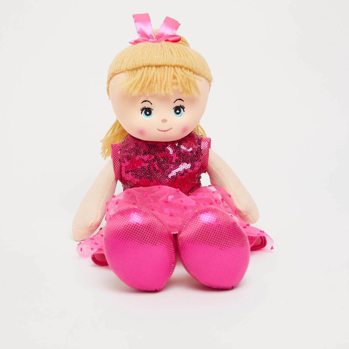 Stuffed Doll in Sequinned Dress