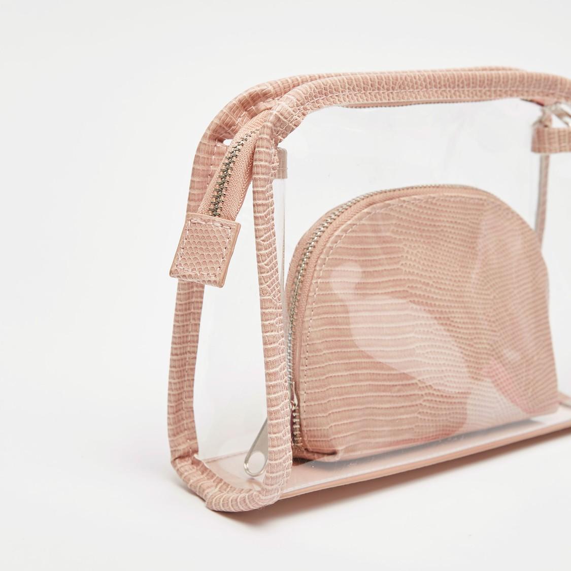 Textured 2-Piece Travel Pouch Set
