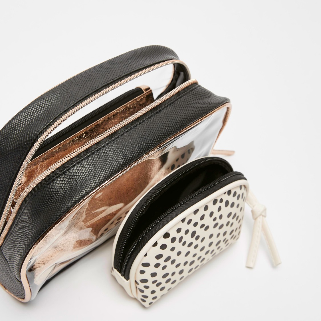 Set of 3 - Printed Pouch with Zip Closure