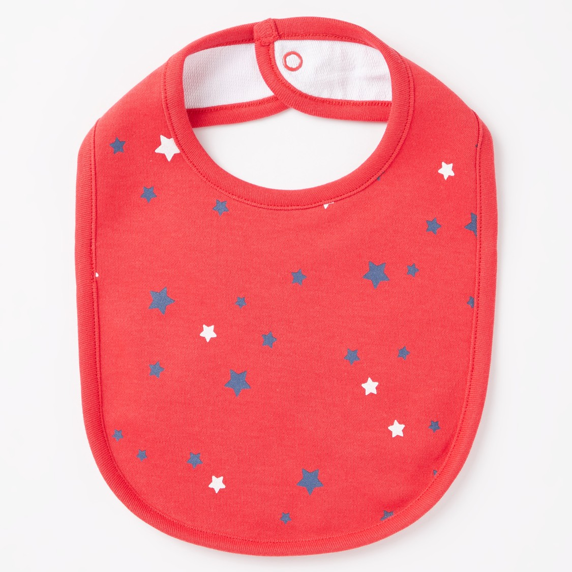 Set of 3 - Printed Bib Set with Snap Button Closure