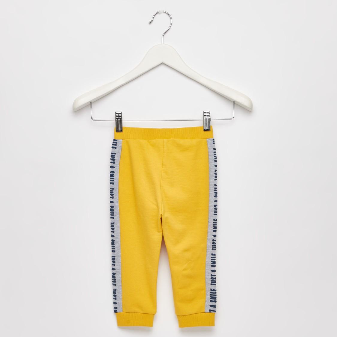 Face Print Hooded Sweatshirt and Full Length Jog Pants Set