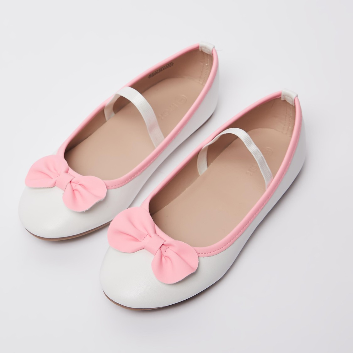 Bow Applique Detail Ballerinas with Elasticised Band