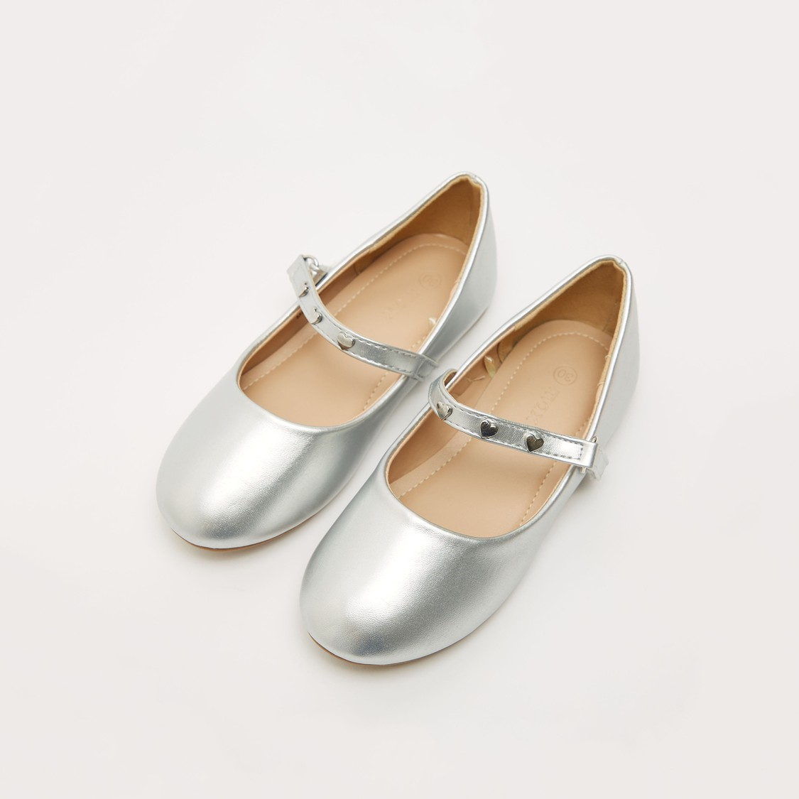 Glossy Shoes with Hook and Loop Closure