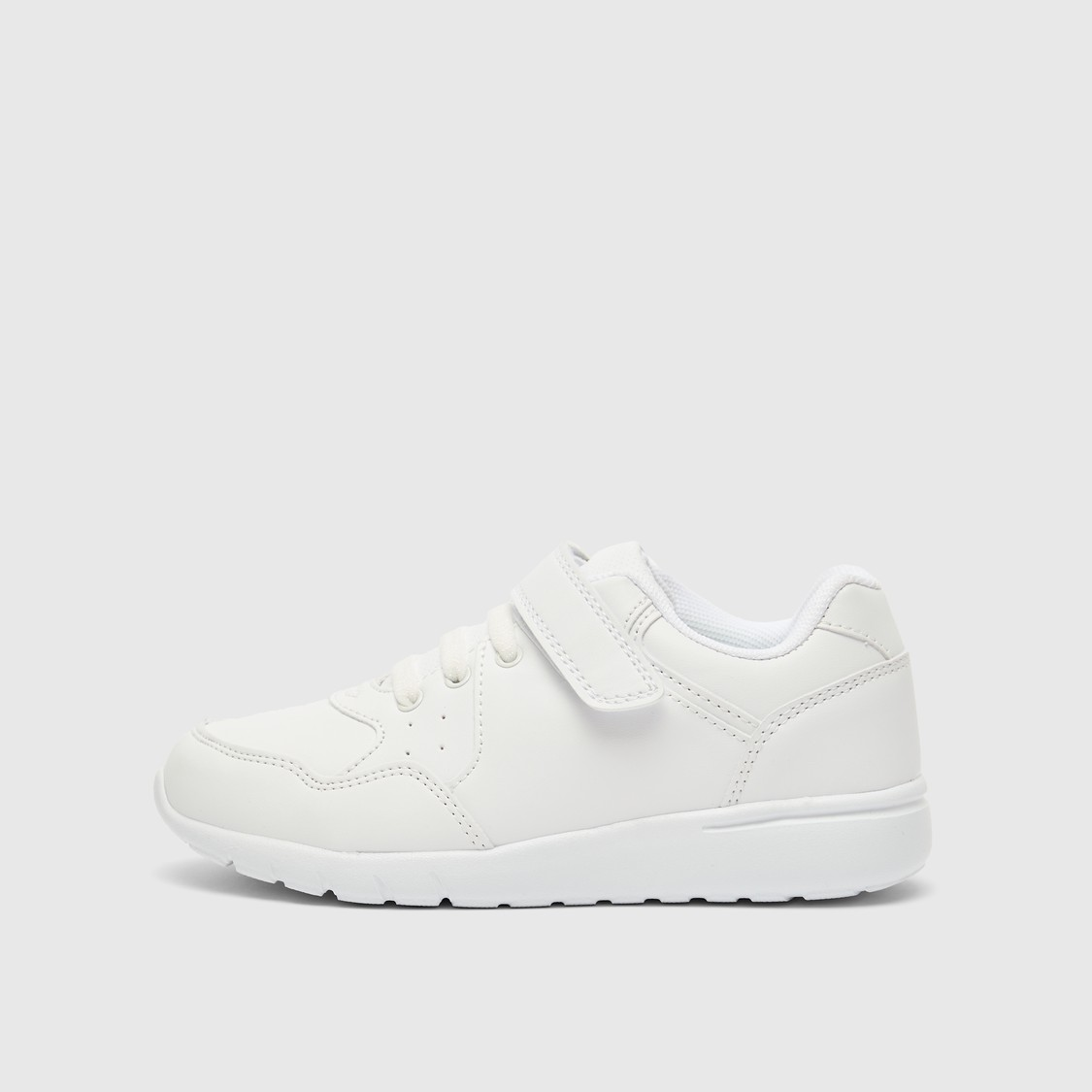 Perforated Sneakers with Hook and Loop Closure