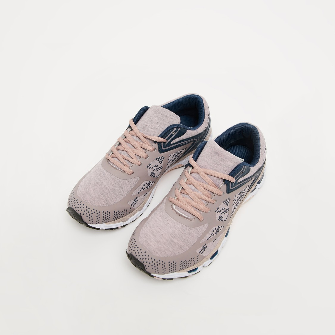 Textured Lace Up Running Shoes