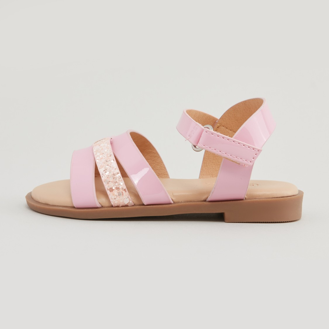Multi-Strap Sandals with Hook and Loop Closure