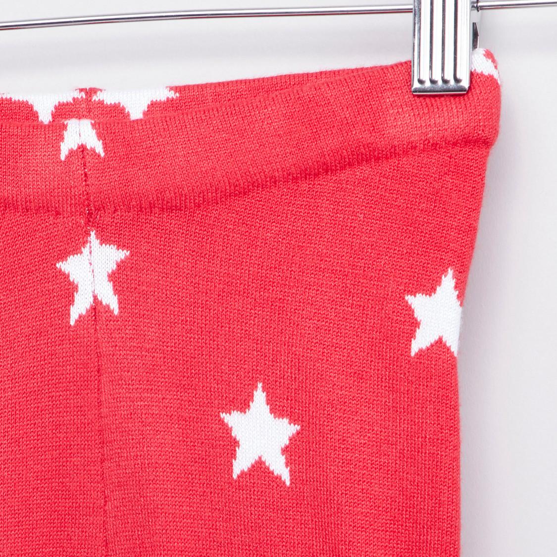Star Print Sweater Leggings