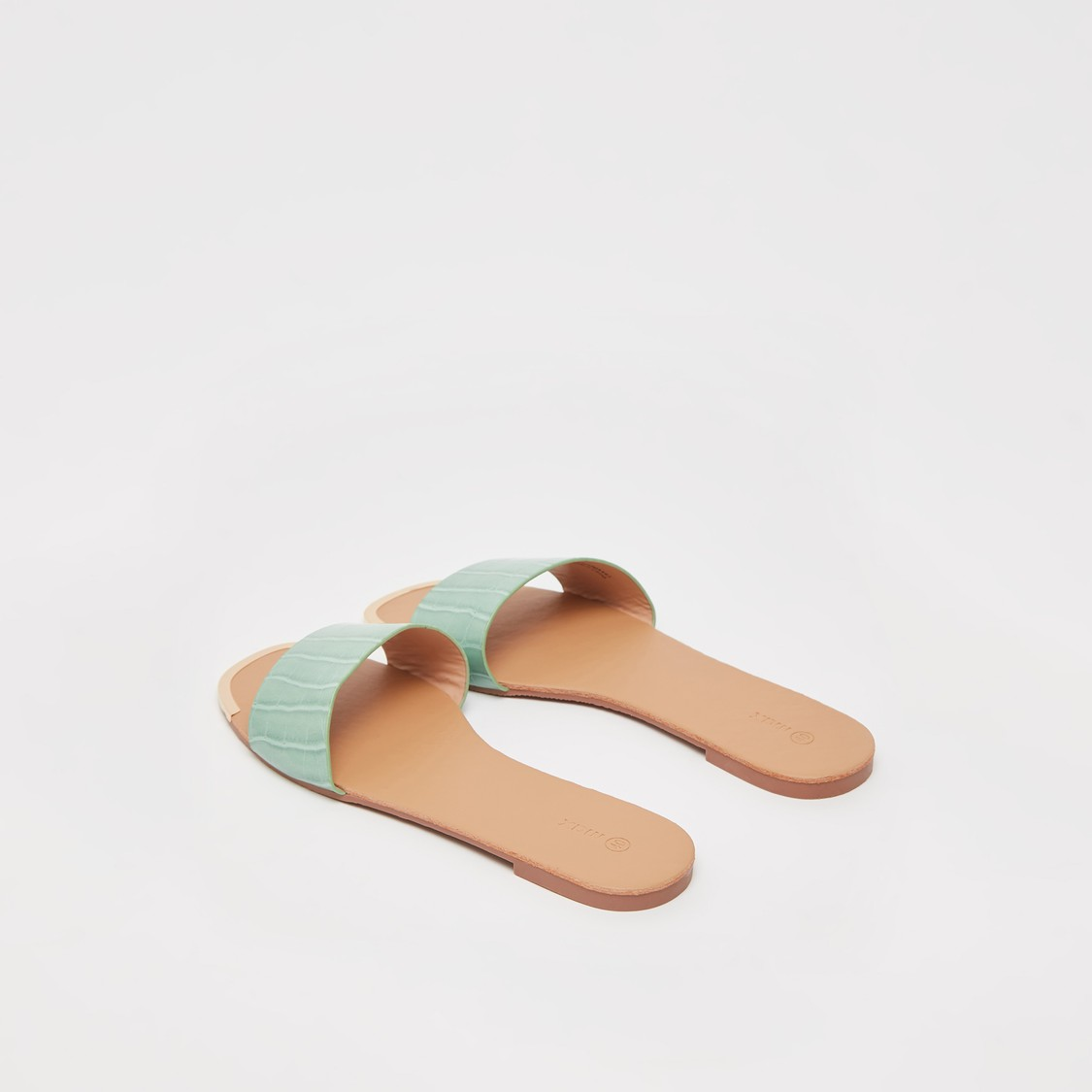 Textured Slip-On Flat Sandals