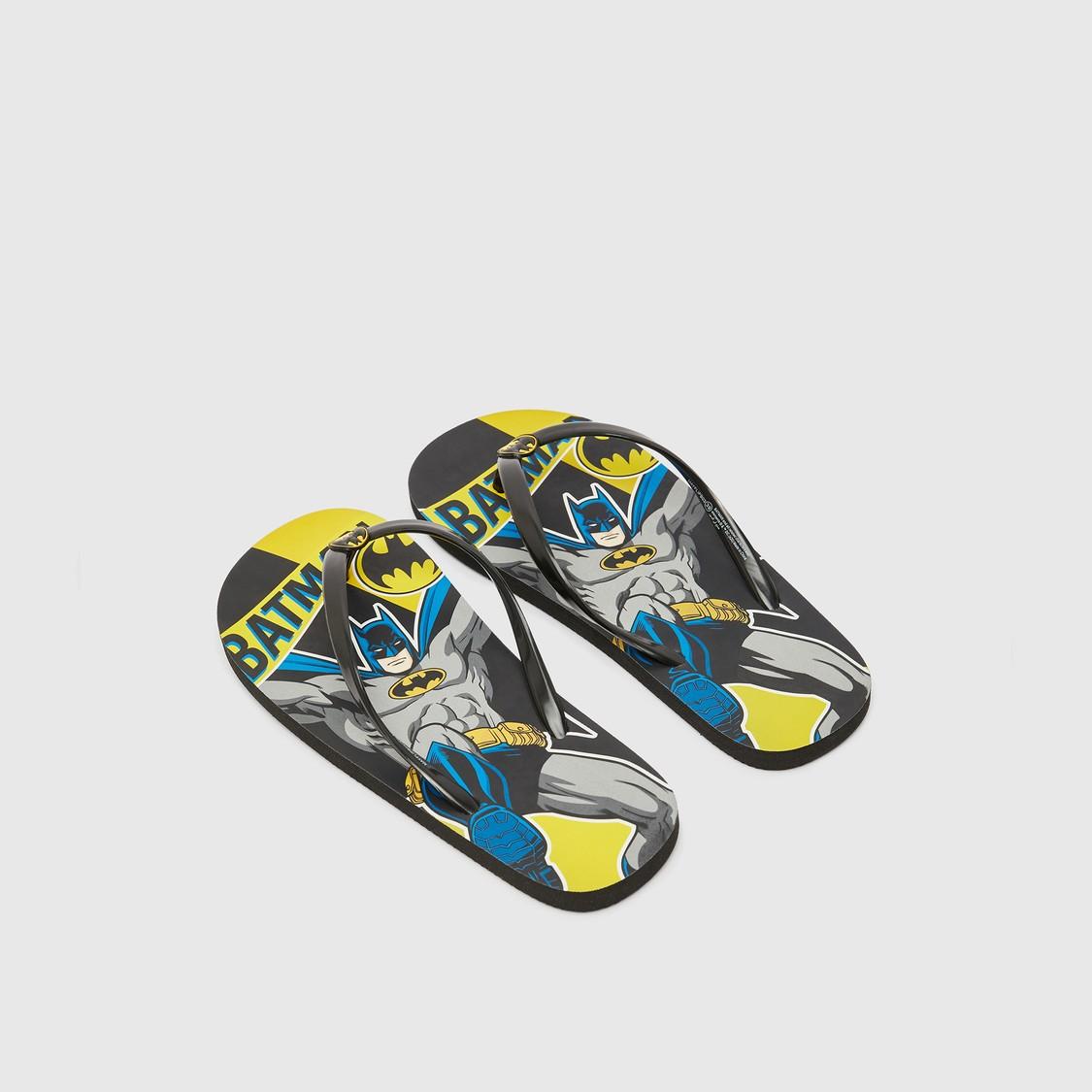 Batman Print Thong Style Flip Flops