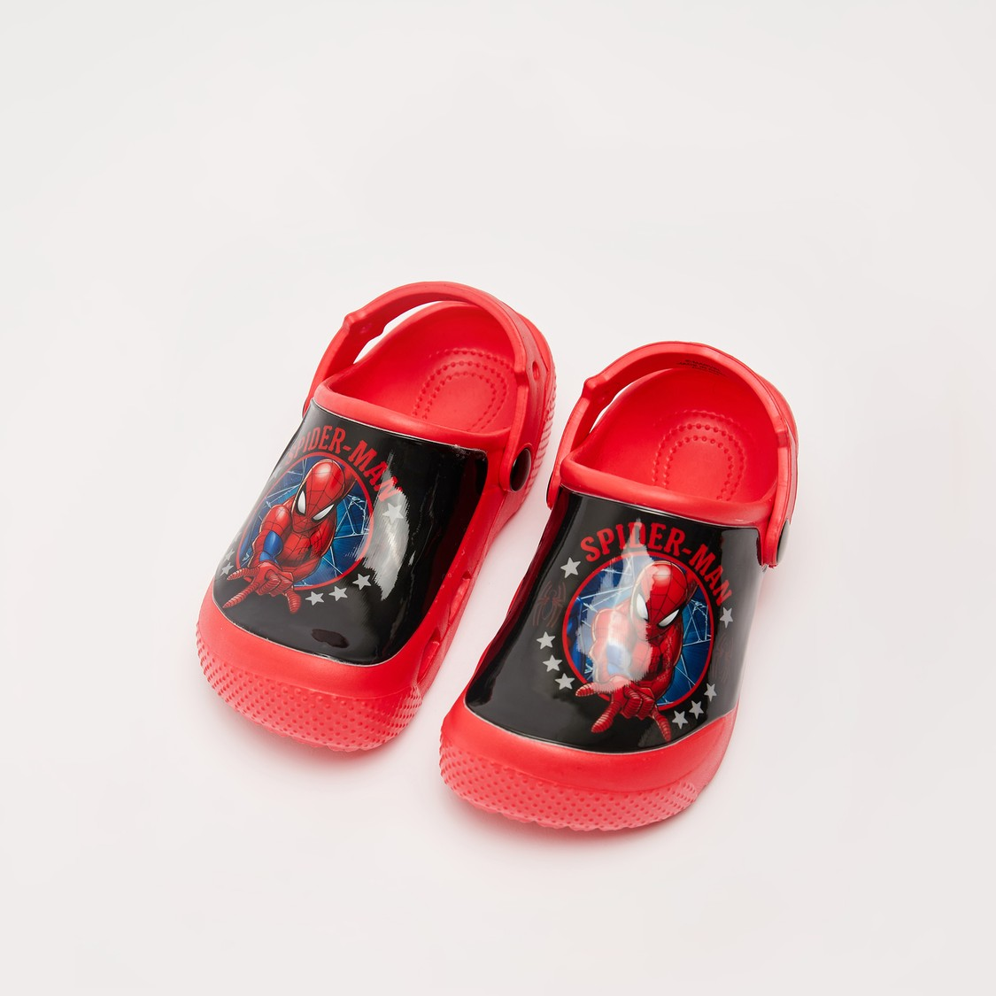 Spider-Man Print Clogs with Back Strap