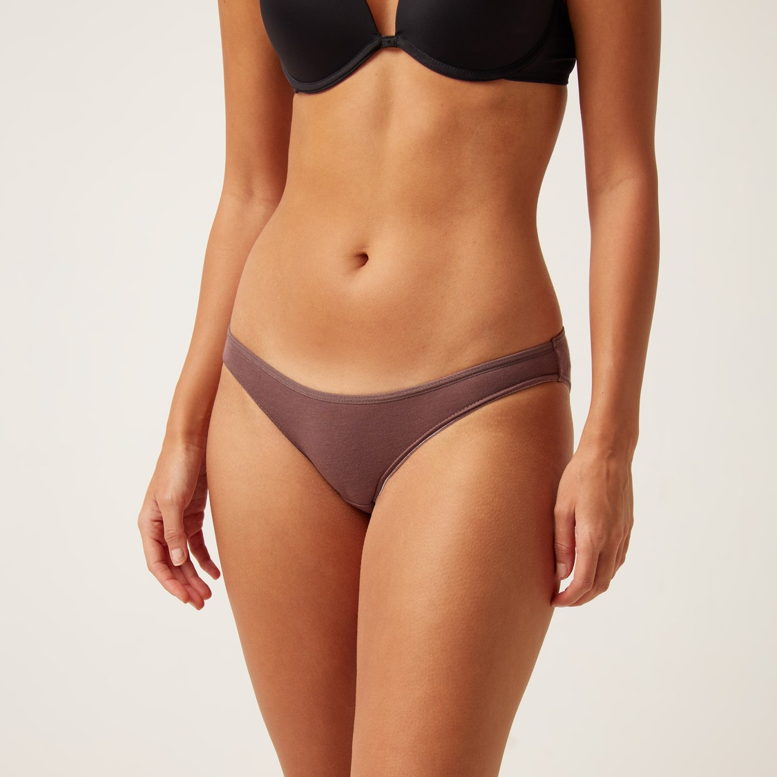 Set of 5 - Solid Bikini with Elasticised Waistband