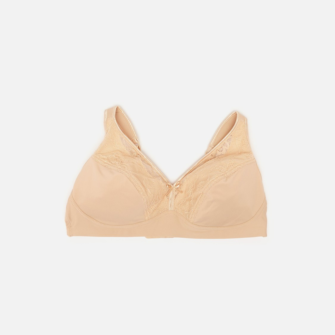 Textured Bra with Hook and Eye Closure