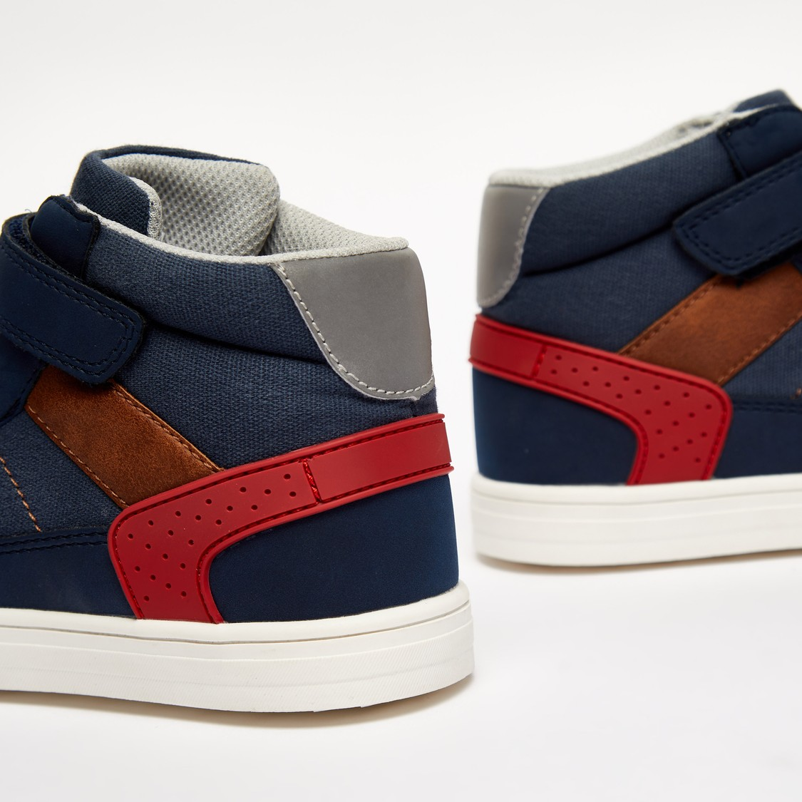 Mid Top Shoes with Hook and Loop Closure