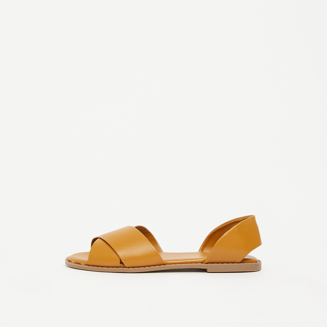 Cross Strap Slip-On Flat Sandals