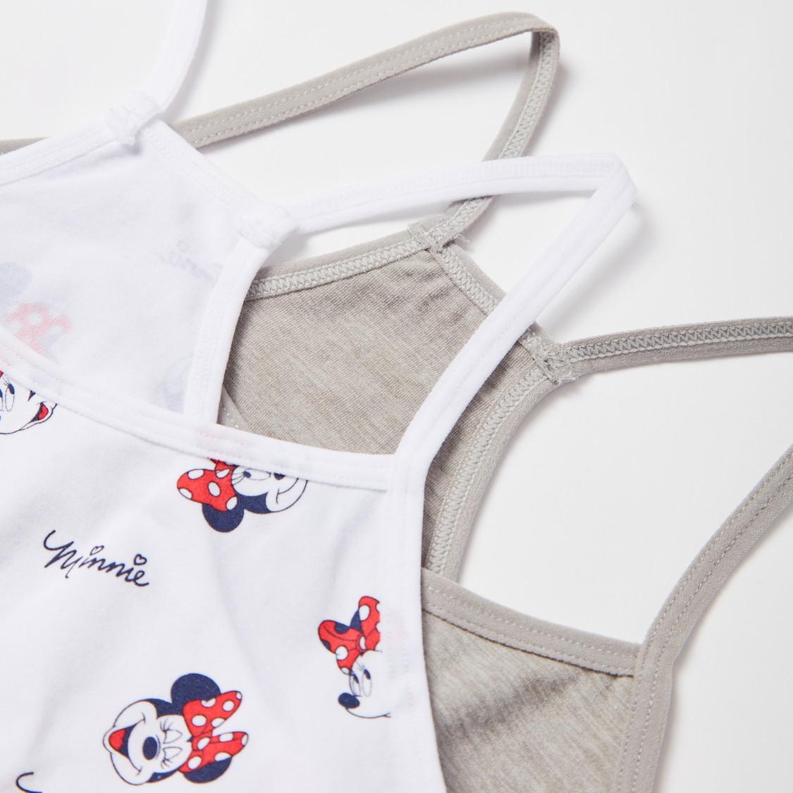 صدريّة متداخلة بظهر ريسر وطبعات ميني ماوس - طقم من قطعتين