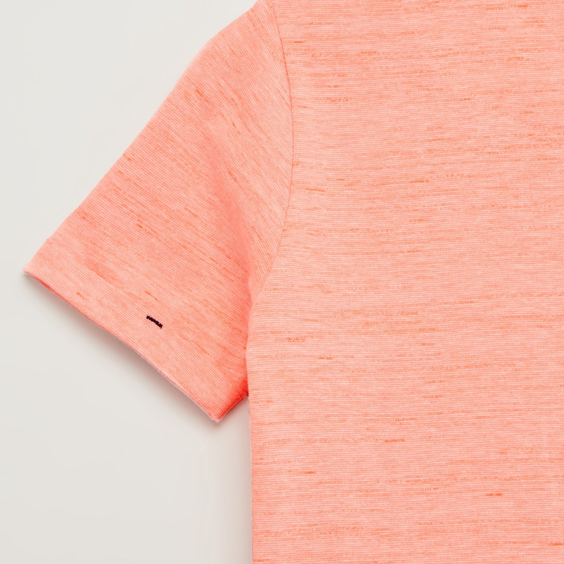 Printed T-shirt with Henley Neck and Short Sleeves
