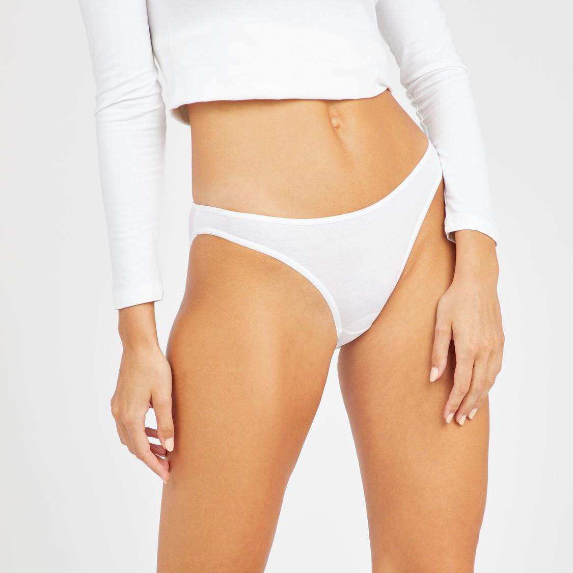 Set of 5 - Assorted Bikini Briefs with Elasticised Waistband