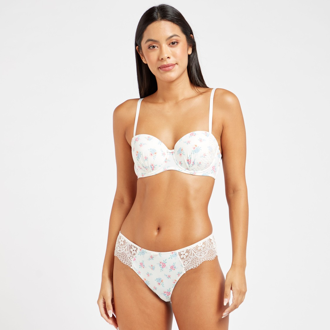 Pack of 2 - Lace Detail Bikini Briefs with Bow Applique
