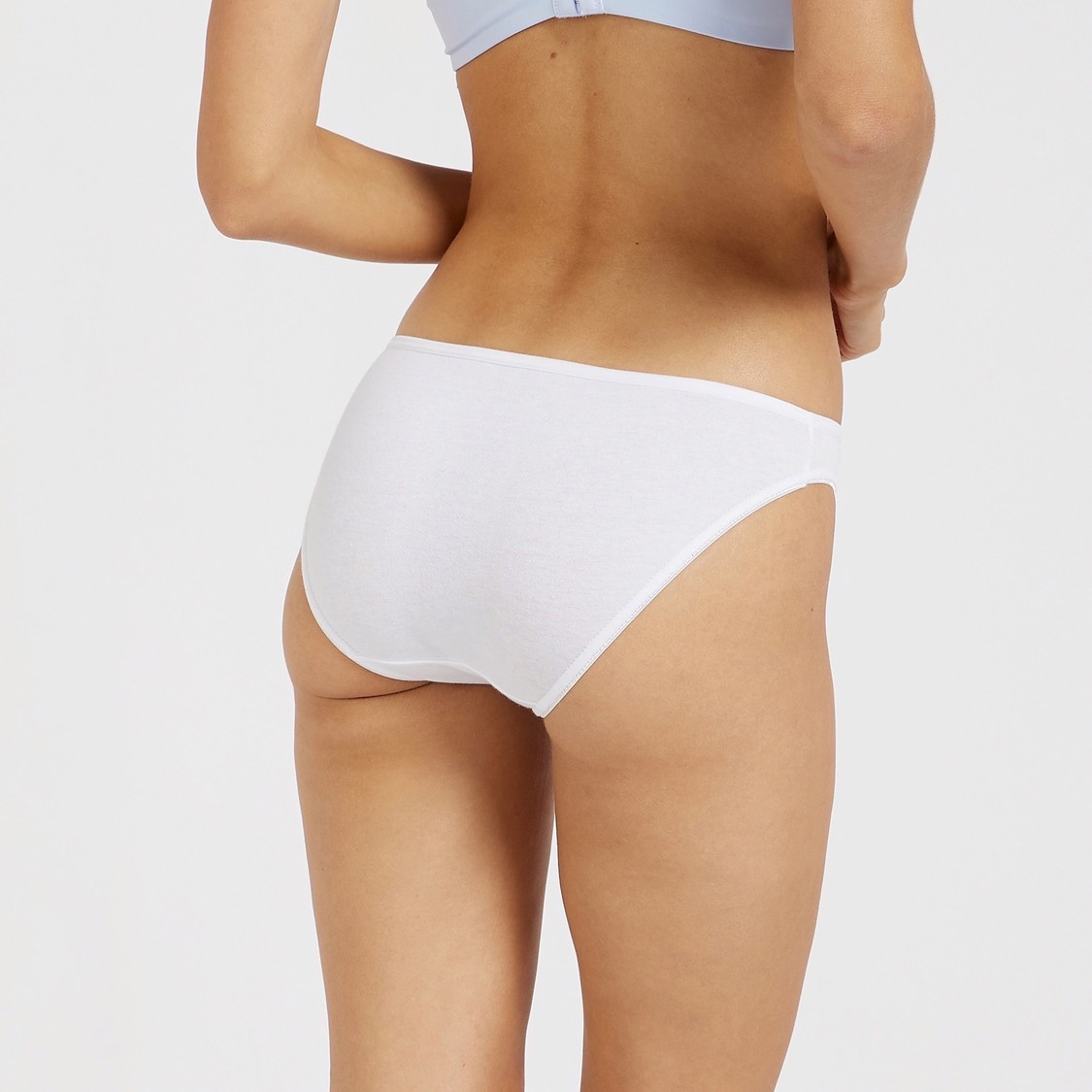 Set of 5 - Solid Bikini Briefs with Elasticated Waistband