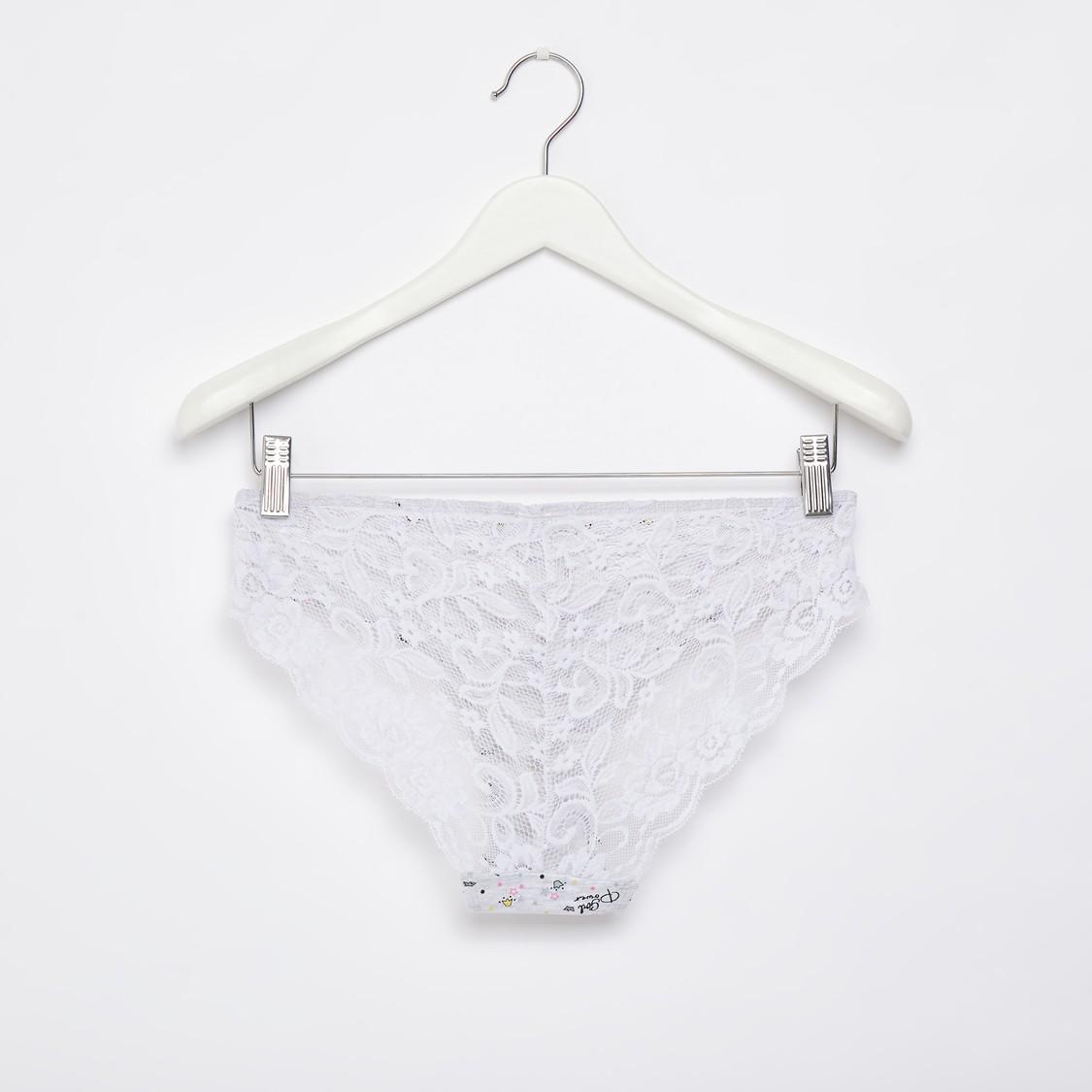 Set of 2 - Assorted Bikini Briefs with Elasticised Waistband