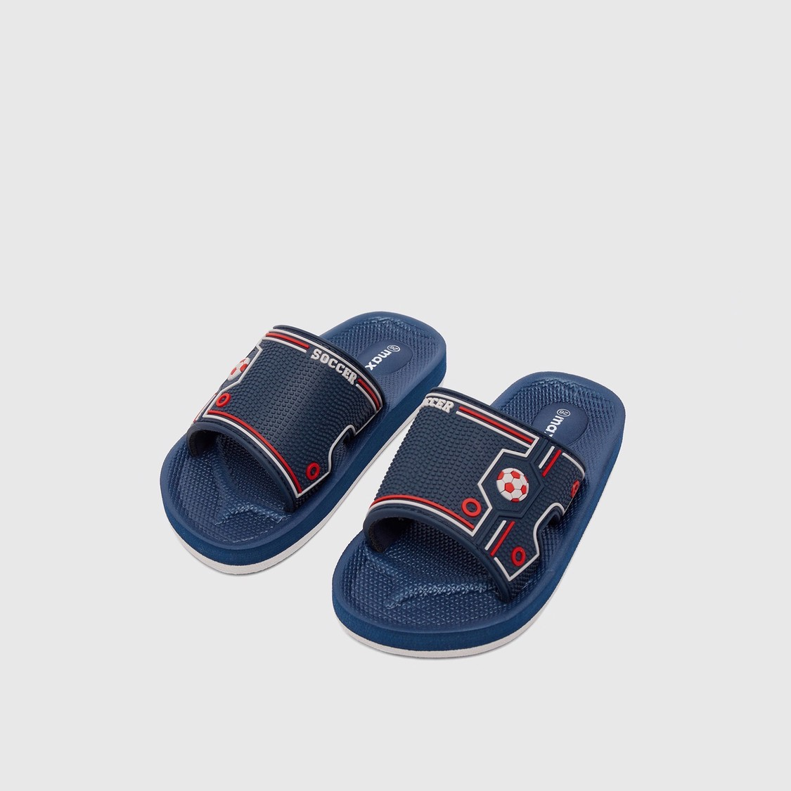 Textured Slides with Soccer Print