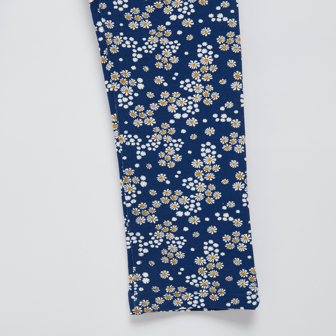 Floral Print Jeggings with Elasticised Waistband