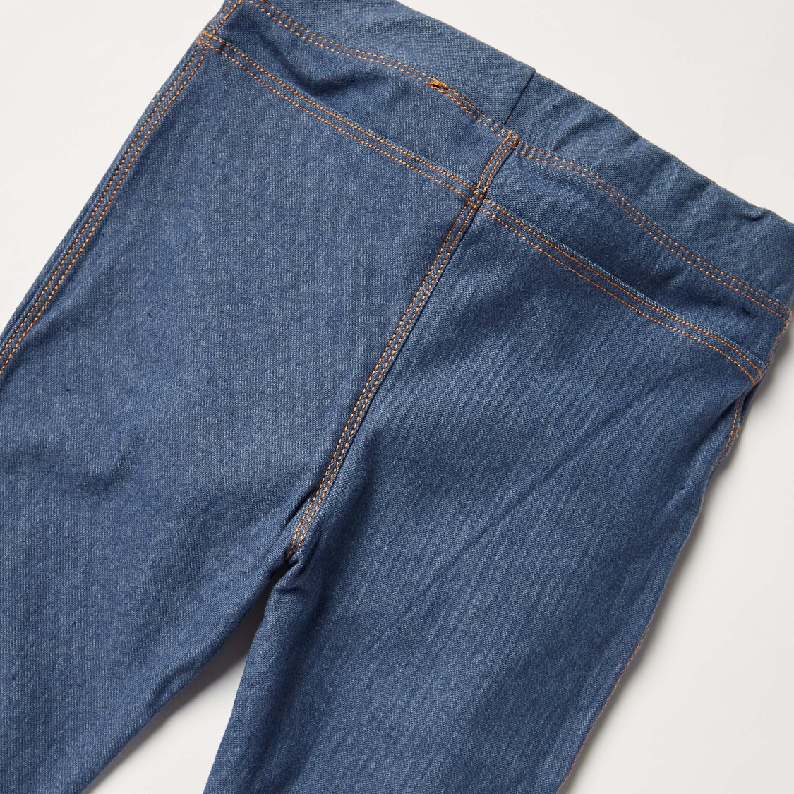 Solid Jeggings with Elasticised Waistband